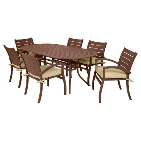 target outdoor dining sets ideas target patio dining miyu fremont 7 piece patio dining set target