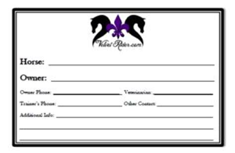 stall card template your contact information available so it is easy to