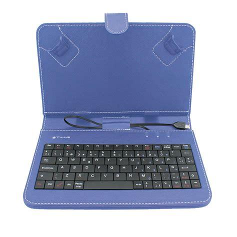 funda para tablet funda tablet 7 con teclado azul