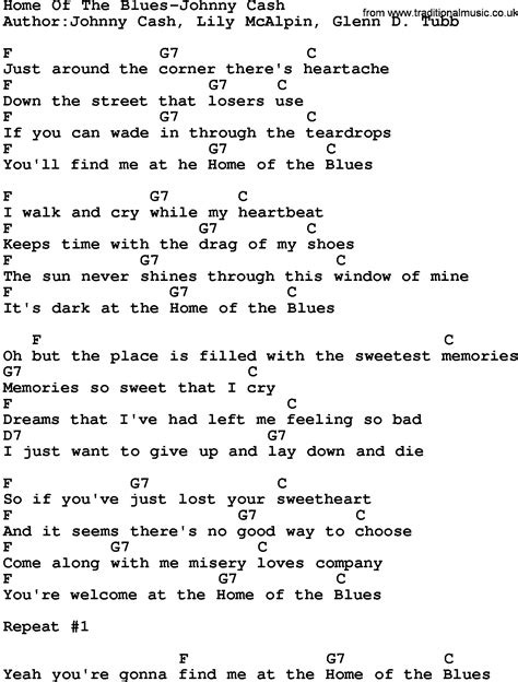blue song you and me lyrics country home of the blues johnny lyrics and chords