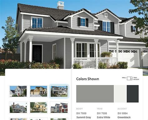 house paint schemes sherwin williams summit gray exterior ideas pinterest