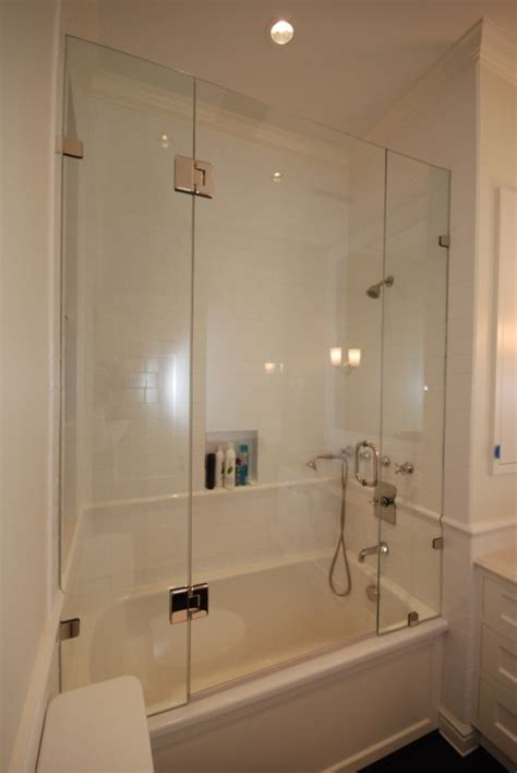 bathtub with shower enclosure frameless glass bathtub enclosures in maryland river