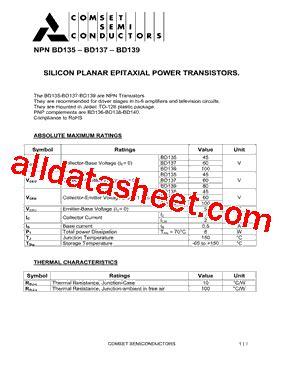 transistor bd139 16 datasheet bd139 datasheet pdf comset semiconductor