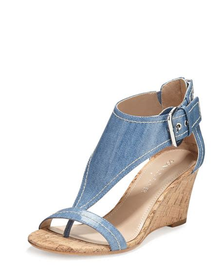 Sandal Wanita Catenzo Tg 170 Donald J Pliner June T Wedge Sandal Light Blue