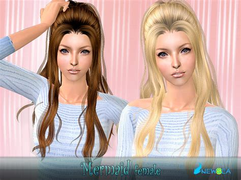 download new hairstyles for sims 3 free newsea sims2 hair yu085f mermaid