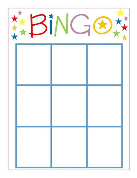 blank bingo card template 3x3 family bingo lula family