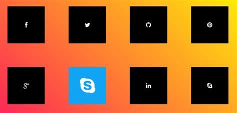 responsive design hover effect hover effect archives social media icons with css 3d hover effects