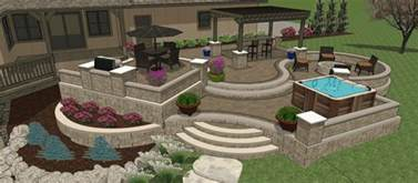 Patio Layout Design by Affordable Patio Designs For Your Backyard