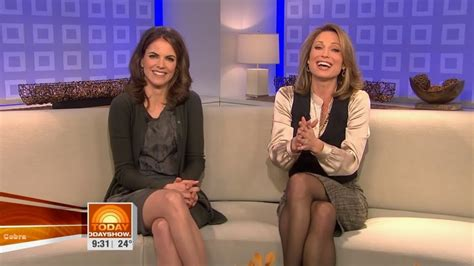 why are tamrons legs shiny on today show ladies in satin blouses amy robach cream satin blouse
