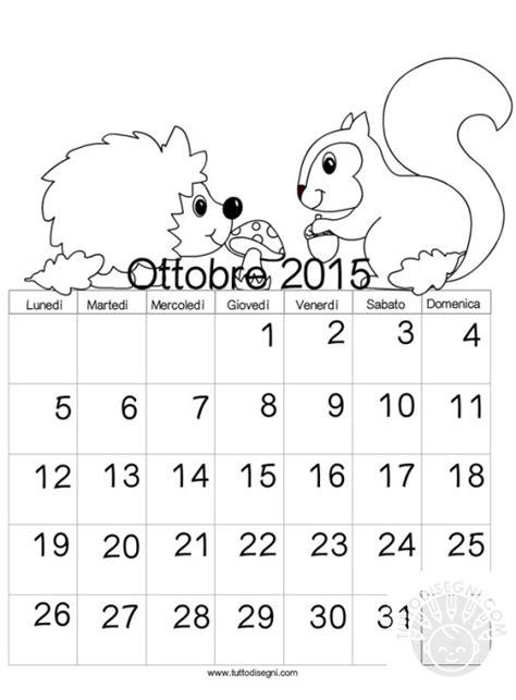 Calendario Ottobre Schede Didattiche Tuttodisegni
