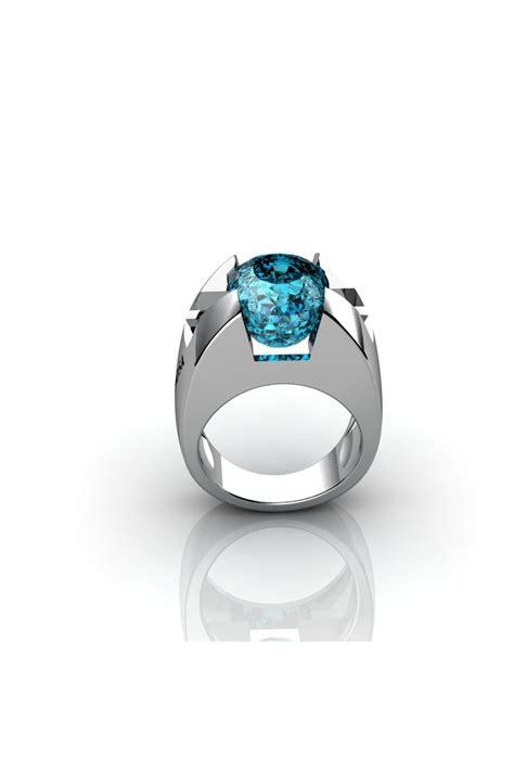 blue topaz gemstone gold ring
