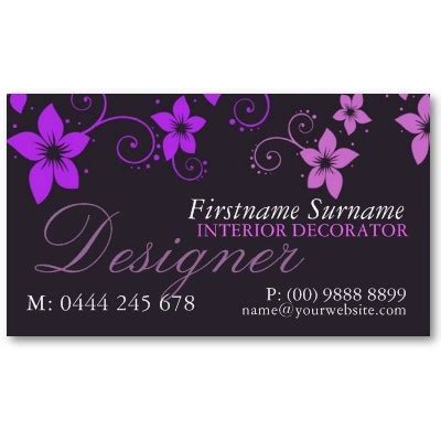 purple reserved cards template purple pink floral designer business card template