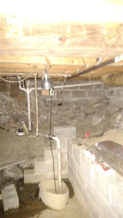 crumbling basement wall in reading home