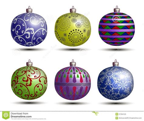 christmas colored balls royalty free stock photo image