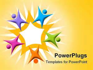 free teamwork powerpoint templates powerpoint template multicolored figures arranged around