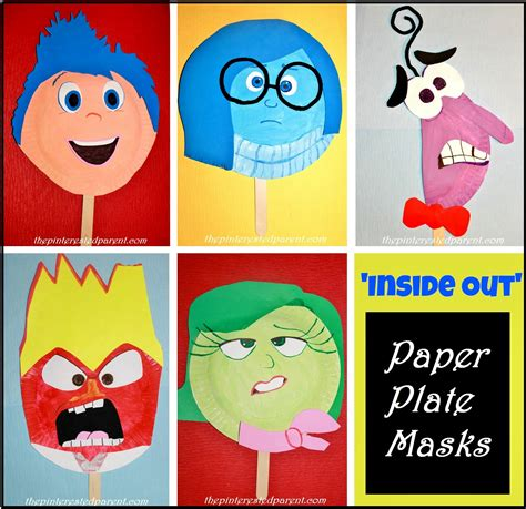 How To Make Masks Out Of Paper Plates - inside out paper plate masks the pinterested parent
