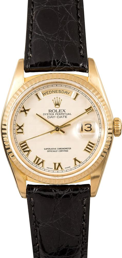 Rolex Leather Date rolex day date president 18238 leather