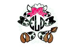 Home Decorating Programs easter cow monogram svg dxf eps files for cricut