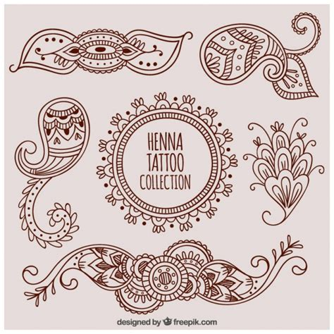 Vintage Poster 40x40cm Motif Kayu 27 set decorative henna tattoos vector free