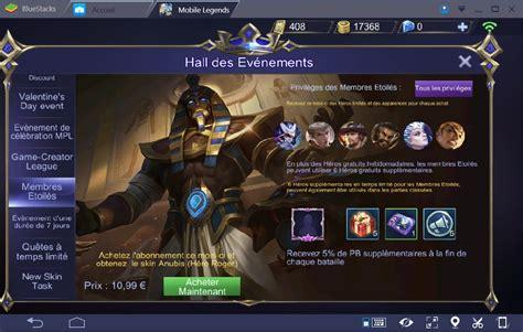 bluestacks mobile legends quel h 233 ros acheter dans mobile legends bang bang