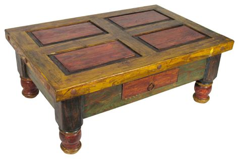 Old Mexico Painted Coffee Table Coffee Tables Other Colorful Coffee Tables