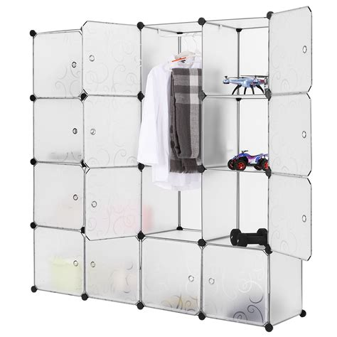 open clothes storage system diy 16 cube interlocking modular storage shelving home clothes