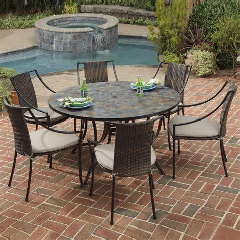 Shop Home Styles Stone Harbor 7 Piece Slate Patio Dining Slate Top Patio Table