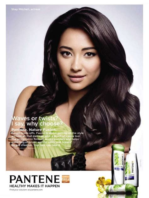 hair ads shay mitchell in pantene shoo ad fashion media ph