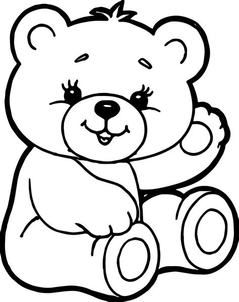 cute bear coloring pages cute bear coloring page wecoloringpage
