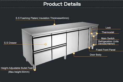 restauratnt commercial kitchen stainless steel food chillercounter top chillerunder counter