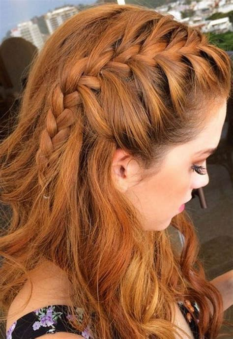 hairstyles for a graduation party braided fringe hair we love pinterest fringe braid
