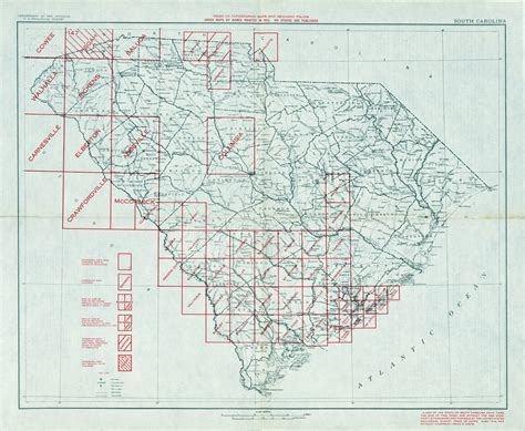 carolina elevation map south carolina historical topographic maps perry