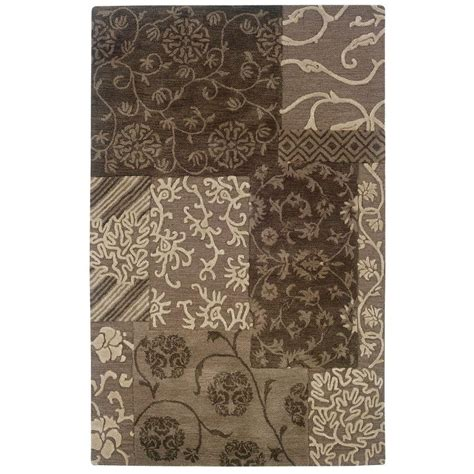 linon home decor rugs linon home decor ashton collection brown and cream 8 ft x