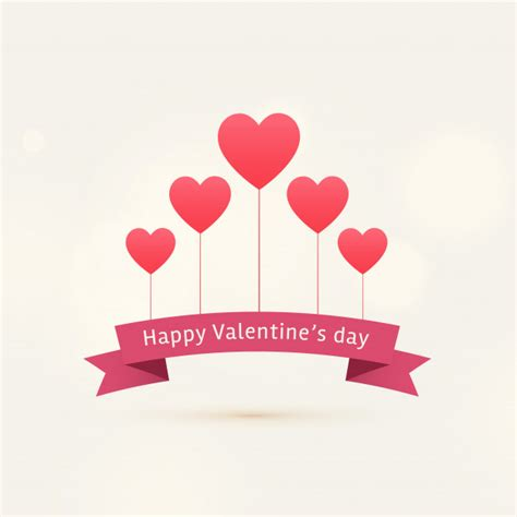 free vector valentines day happy s day background with flying hearts vector