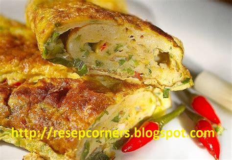resep telur dadar padang gurih resep masakan indonesia