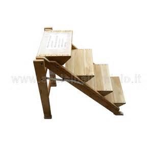 sgabello pieghevole legno sgabello 3 gradini in legno di faggio verniciato