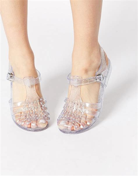 Jelly Shoes Flat Salur new look new look jellytot embellished flat jelly shoes