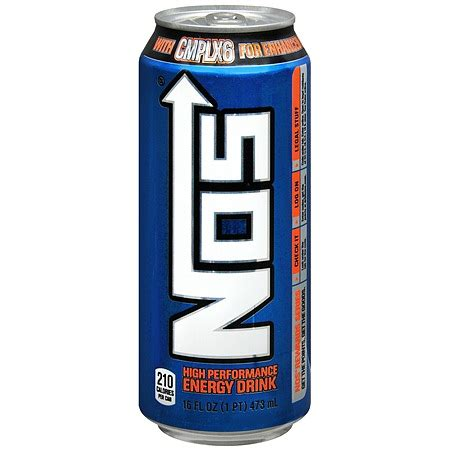 energy drink nos nos high performance energy drink 16 oz can walgreens