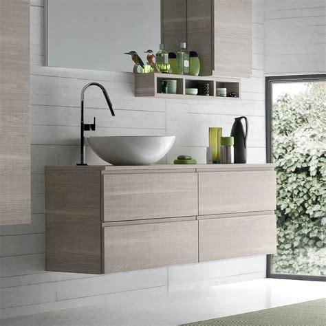 mobile lavello bagno mobile bagno con lavabo in appoggio atlantic arredaclick