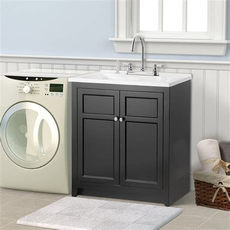 Espresso Cabinets White Countertop Bathroom Focal Point With Splendid Bathroom Sink Cabinets