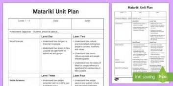 lesson plan template nz new zealand matariki unit plan template new zealand matariki