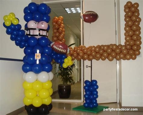 sports themed balloon decor your sport baseball football soccer or any other