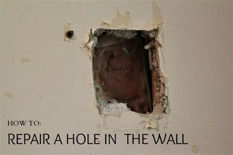 fix hole in wall how to repair drywall how to fix a hole in the wall the