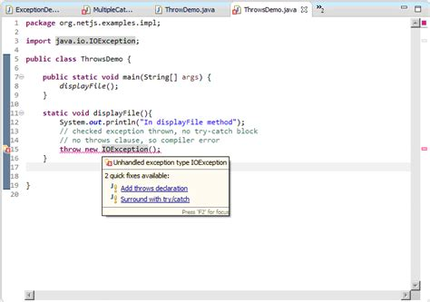 How To Declare String In Java by Throws Keyword In Java Exception Handling Tech Tutorials