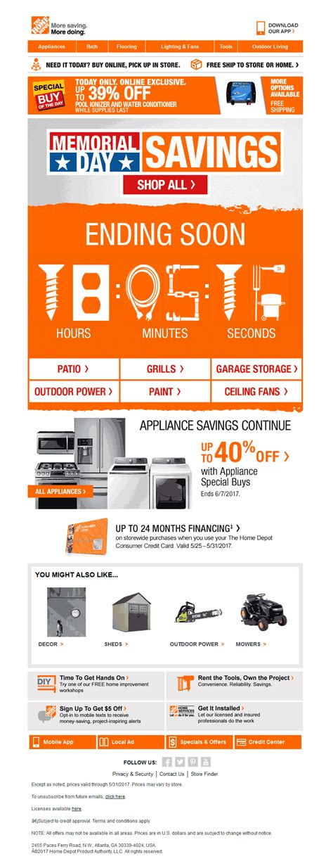 home depot 10 mailable microsites v how the home depot reved their