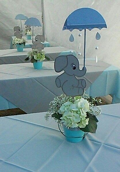 Baby Boy Elephant Shower Ideas by Centerpiece Baby Shower Elephant Theme Creations
