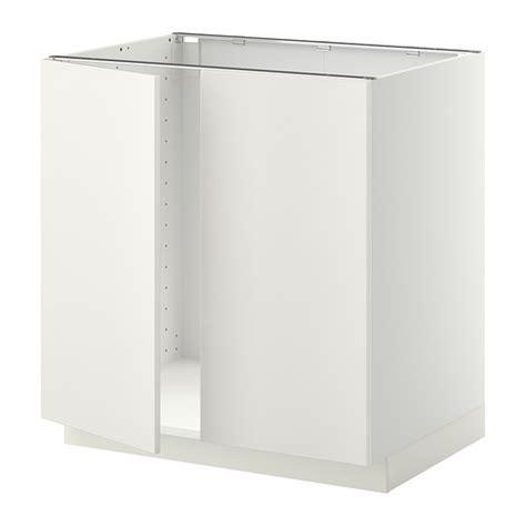 mobile base per lavello cucina metod mobile base per lavello 2 ante bianco veddinge