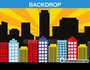 Superhero comic backdrop yellow background instant download