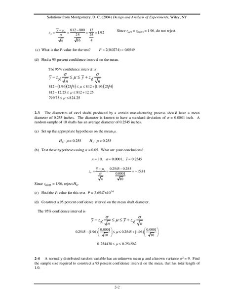 design of experiments montgomery free download solutions design and analysis of experiments montgomery
