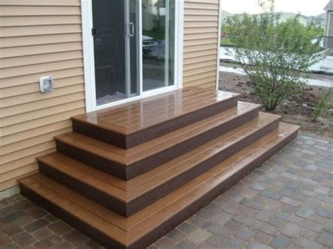 trex steps trex steps on paver patio garden ideas